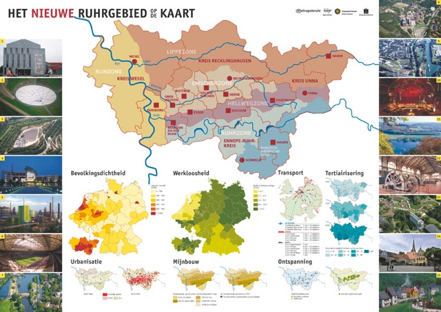 Onderwijsposter 'Ruhrgebied op de kaart'