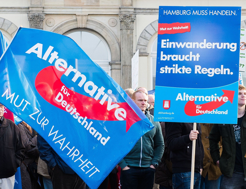 AfD-posters. Afb.: dpa