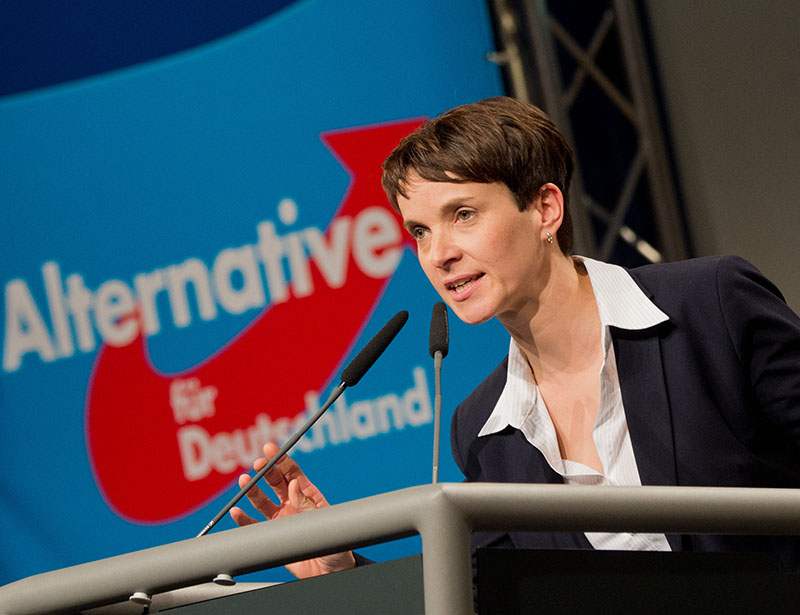Frauke Petry. Afb: dpa/pict-all